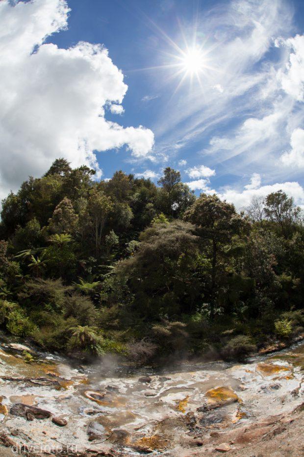 <strong>Разноцветные геотермальные озера Waiotapu. Фото-3.</strong>