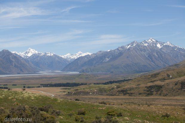 <strong>Горы Mt. Cook Aspring и нацпарки вокруг.</strong>