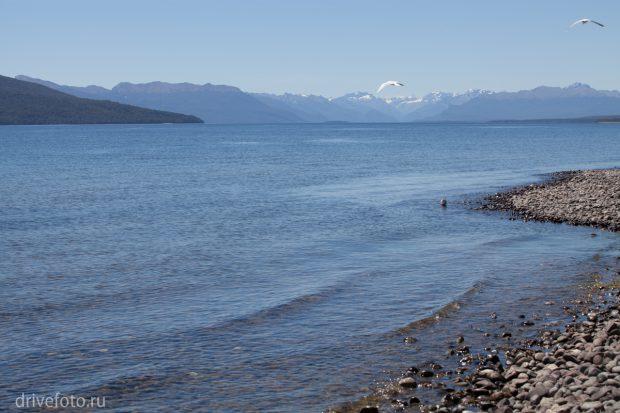 <strong>Озеро Te-Anau и фьорды за ним.</strong>