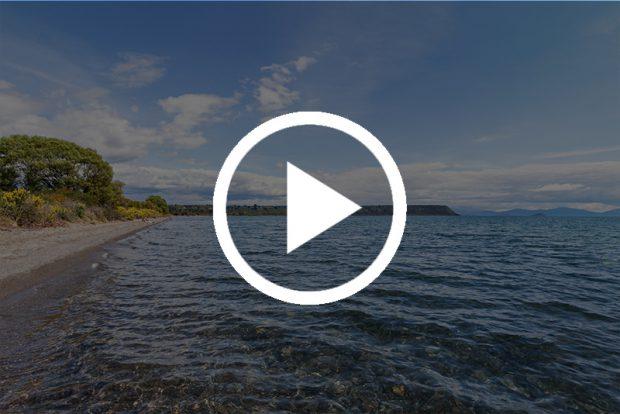 Виды озера Taupo.