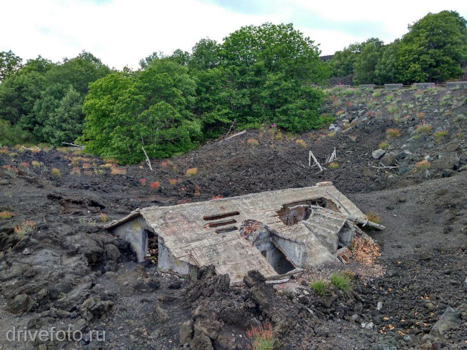 После извержения Этны