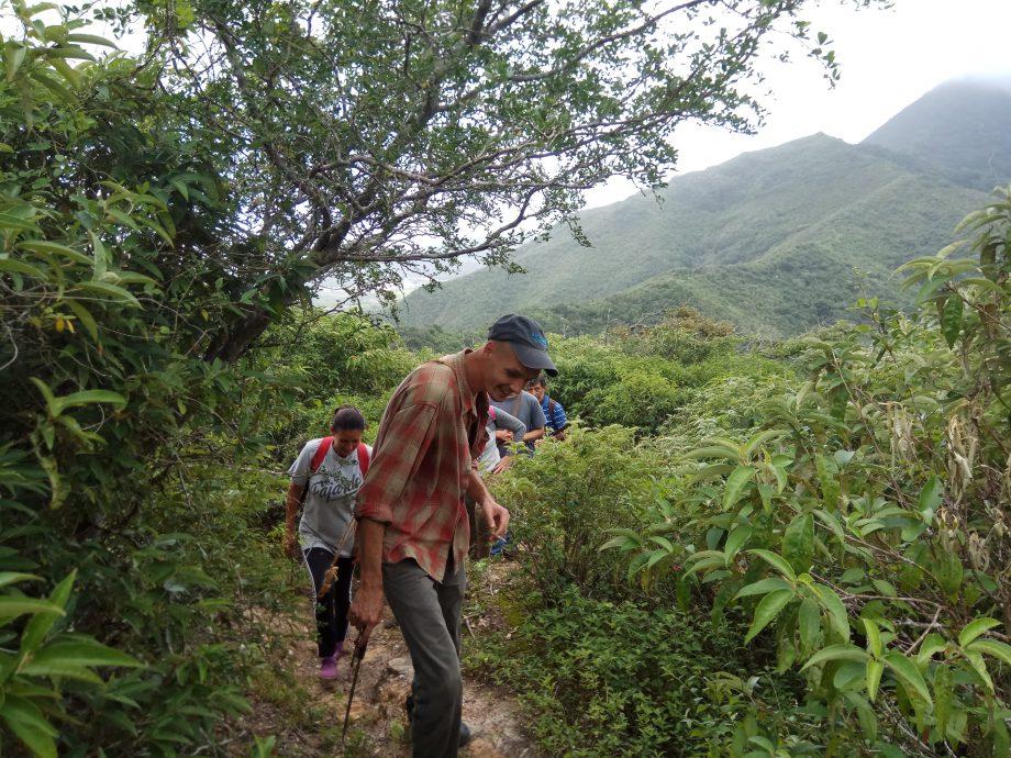 В походе по горам острова